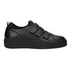 Schwarze Leder-Sneakers mit Klettverschlüssen bata, Schwarz, 526-6646 - 26