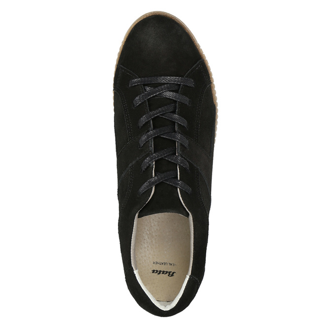 Leder-Sneakers mit markanter Flatform bata, Schwarz, 523-6604 - 26