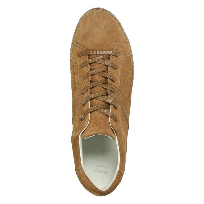 Braune Leder-Sneakers bata, Braun, 523-8604 - 26