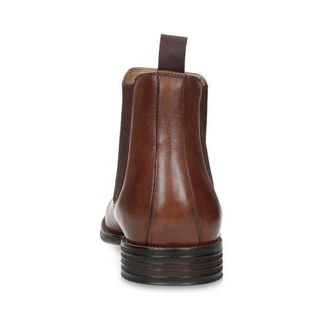 Braune Chelsea Boots aus Leder bata, Braun, 896-3400 - 15