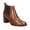 Damen-Knöchelschuhe aus Leder mit Absatz bata, Braun, 694-4641 - 13