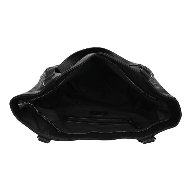 Schwarze Handtasche mit Zwecken bata, Schwarz, 961-6787 - 15