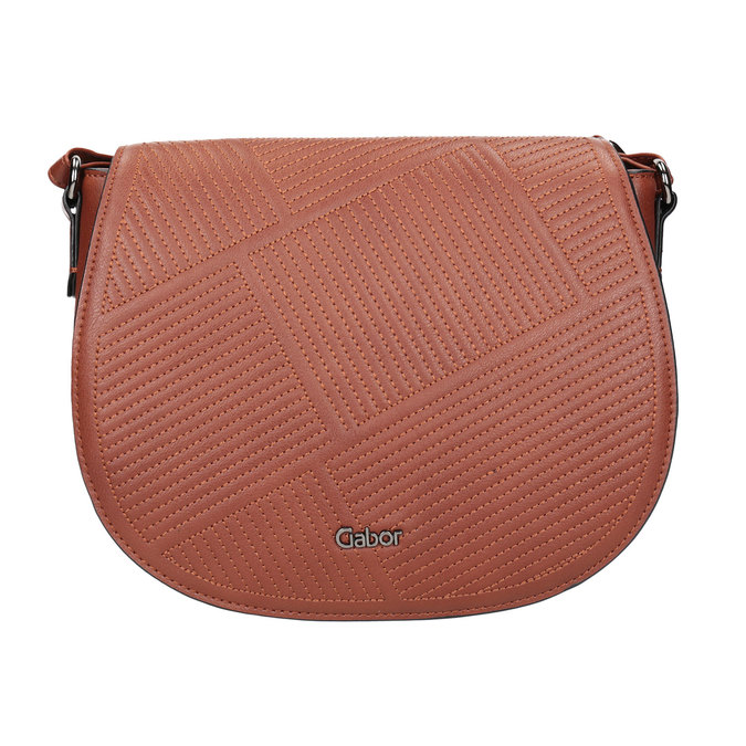 Damenhandtasche mit Steppung gabor-bags, Braun, 961-3055 - 26