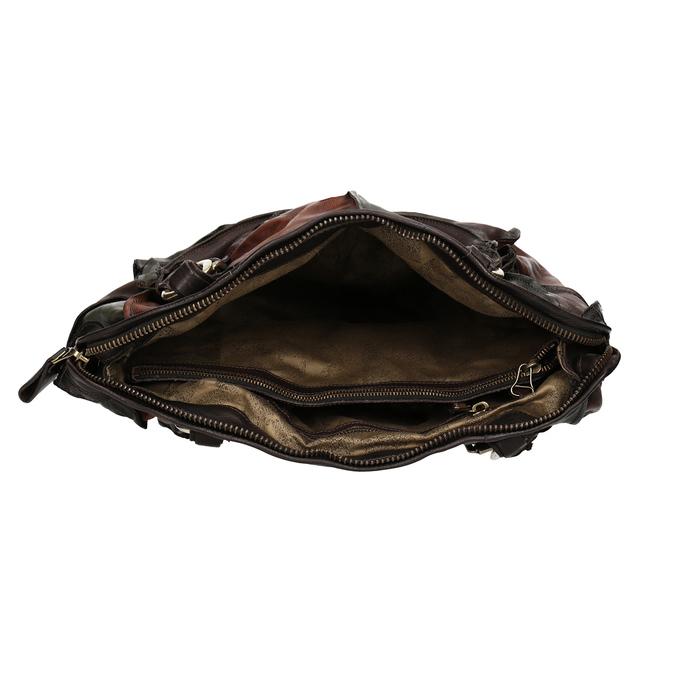 Lederhandtasche im Patchwork-Stil a-s-98, mehrfarbe, 966-0062 - 15