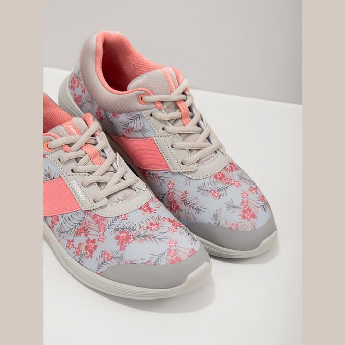 Sneakers mit Blumenmuster power, Grau, 509-2203 - 19