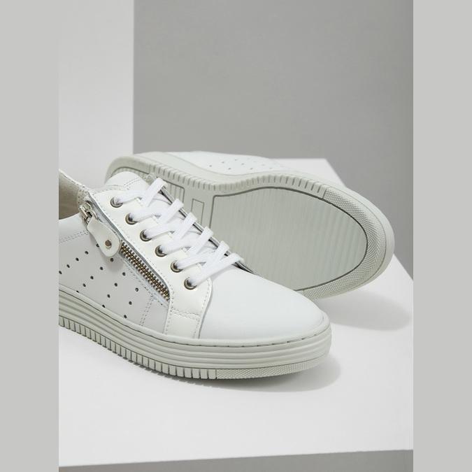 Damen-Sneakers aus Leder mit Reissverschluss bata, Weiss, 526-2630 - 14