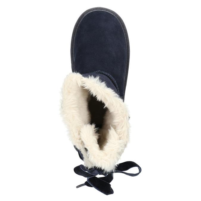 Velours-Stiefel für Kinder bata, Blau, 393-9604 - 26