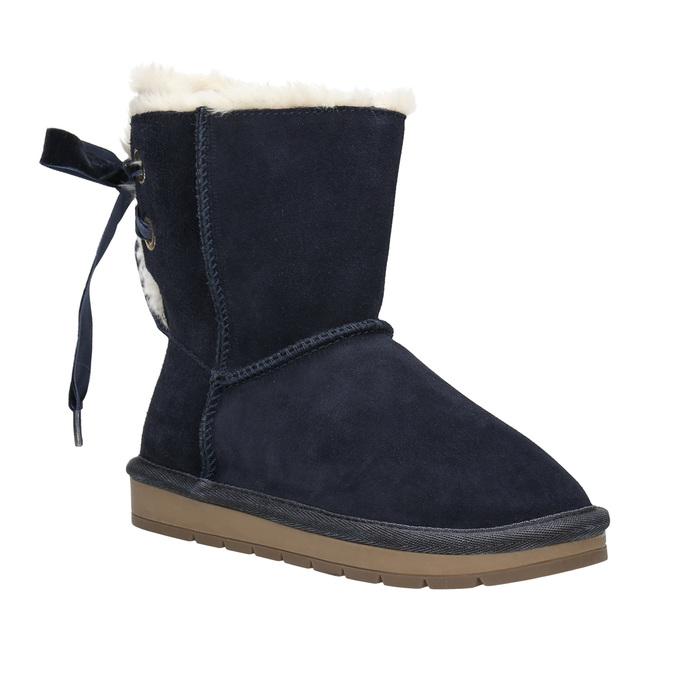 Velours-Stiefel für Kinder bata, Blau, 393-9604 - 13