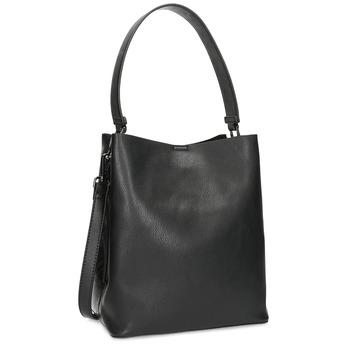 Schwarze Hobo-Damenhandtasche, Schwarz, 961-2173 - 13