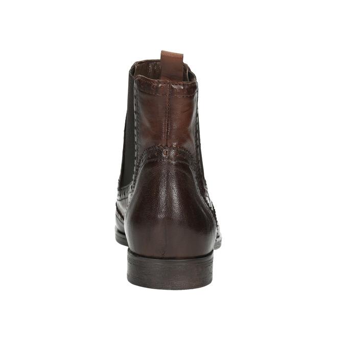 Damen-Chelsea-Boots mit Brogue-Verzierung bata, Braun, 596-4683 - 16