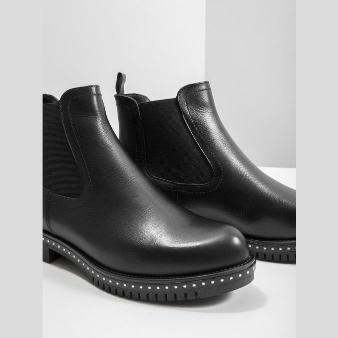 Damen-Chelsea-Boots mit massiver Sohle bata, Schwarz, 596-6677 - 14