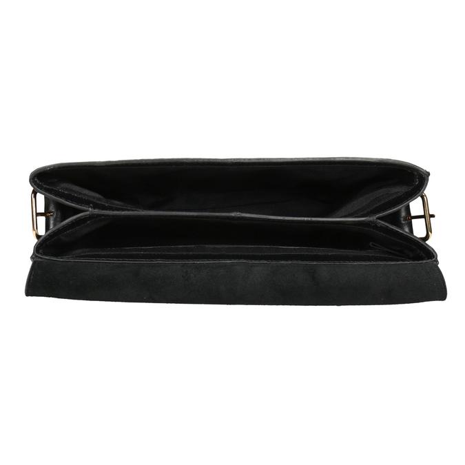 Schwarze Crossbody-Handtasche aus Leder vagabond, Schwarz, 964-6086 - 15