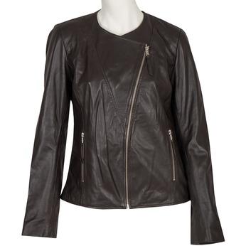 Damen-Lederjacke mit asymmetrischem Reißverschluss bata, Braun, 974-4177 - 13