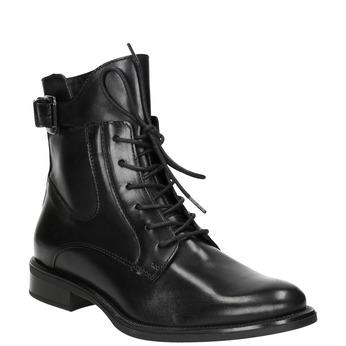 Damen-Knöchelschuhe aus Leder bata, Schwarz, 596-6680 - 13