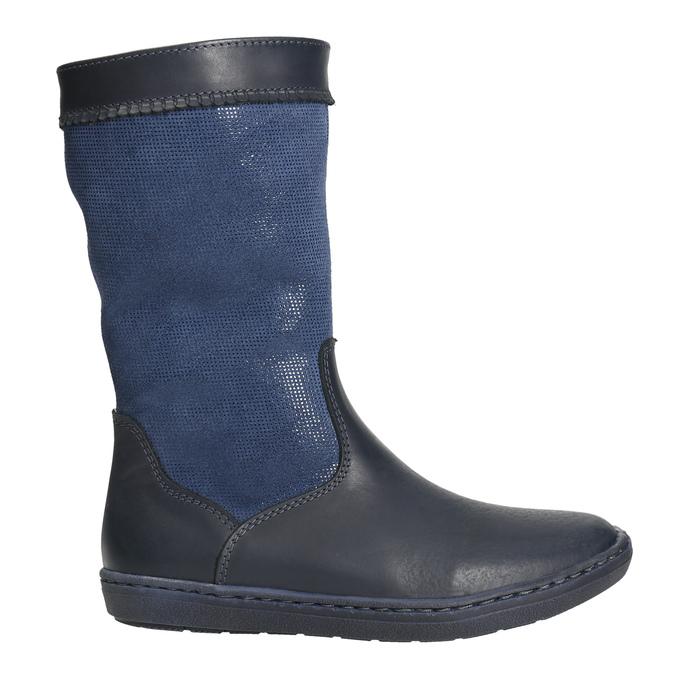 Blaue Mädchenstiefeletten bata, Blau, 394-9196 - 15