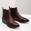 Damen-Chelsea-Boots mit Brogue-Verzierung bata, Braun, 596-4683 - 18