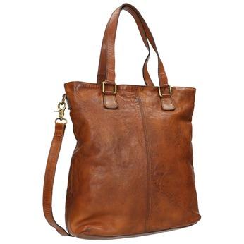 Damenhandtasche aus Leder bata, Braun, 964-3245 - 13