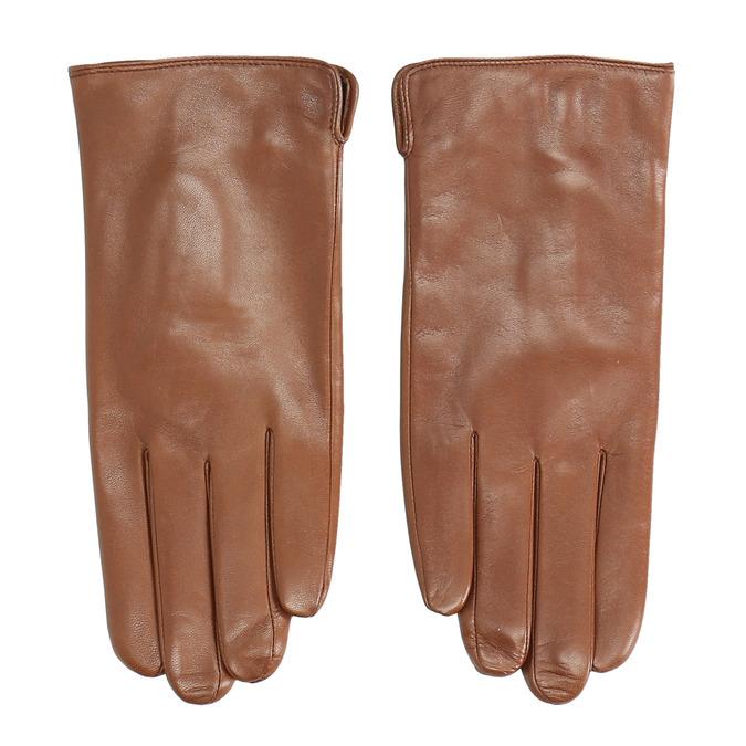 Braune Lederhandschuhe bata, Braun, 904-3129 - 26