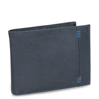 Herren-Geldbörse aus Leder bata, Blau, 944-9188 - 13