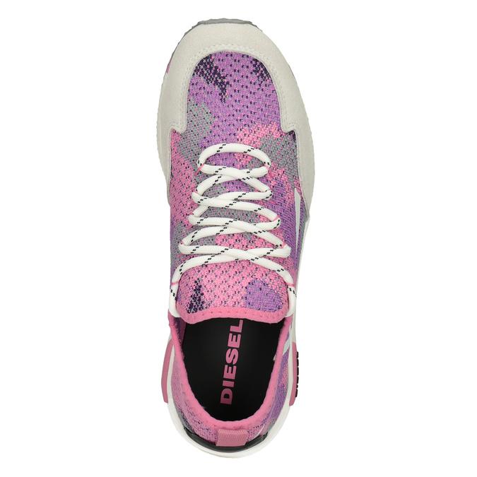 Sportliche, rosa Sneakers diesel, Rosa, 509-5760 - 17
