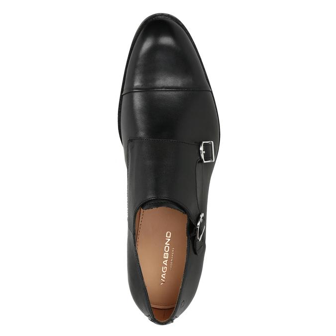Herren-Monk-Shoes aus Leder vagabond, Schwarz, 814-6023 - 15