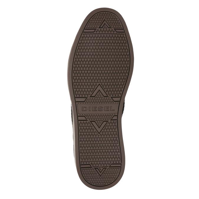 Knöchelhohe Sneakers aus geschliffenem Leder diesel, Braun, 803-4629 - 19
