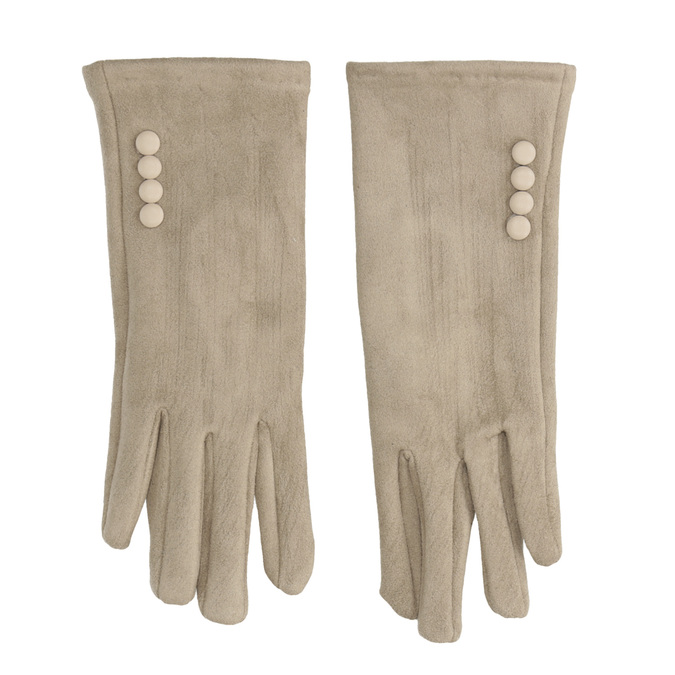 Damen-Stoffhandschuhe mit Knöpfen bata, Beige, 909-8612 - 26