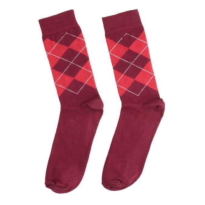 Herrensocken mit englischem Muster bata, Rot, 919-5300 - 26
