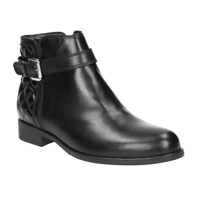 Knöchelschuhe aus Leder mit einer Schnalle bata, Schwarz, 594-6662 - 13