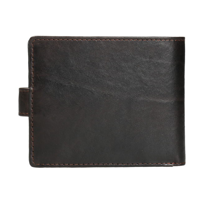 Herren-Geldbörse aus Leder bata, Braun, 944-4202 - 16