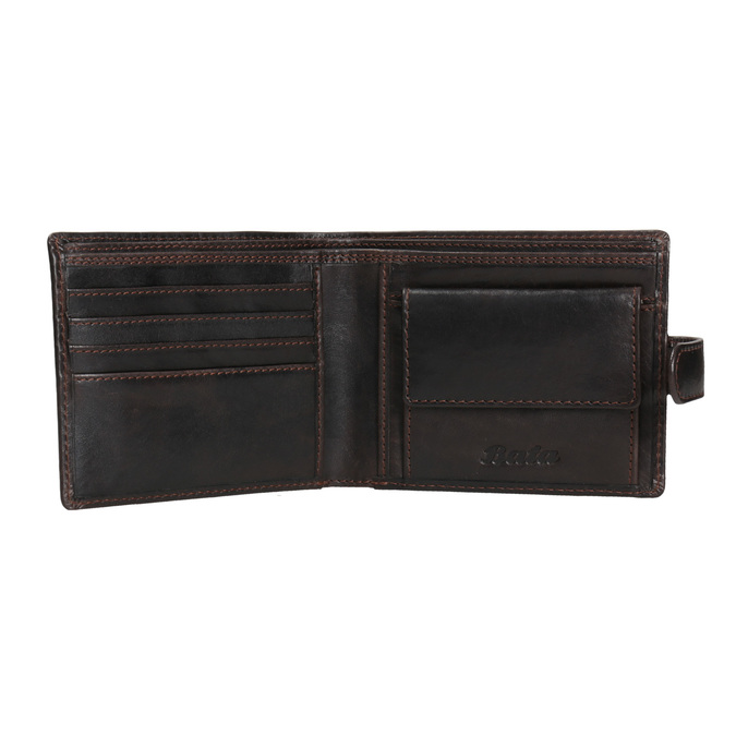 Herren-Geldbörse aus Leder bata, Braun, 944-4202 - 15
