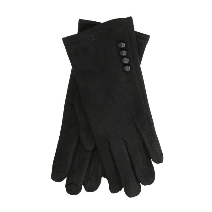 Damenhandschuhe aus Textil, Schwarz, 909-6612 - 13