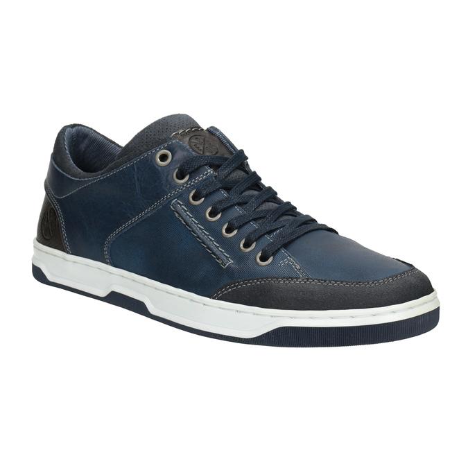 Blaue Leder-Sneakers bata, Blau, 846-9927 - 13