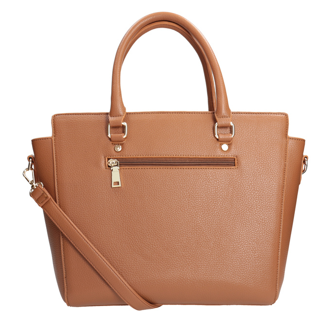 Braune Handtasche mit abnehmbarem Gurt bata, Braun, 961-3845 - 16