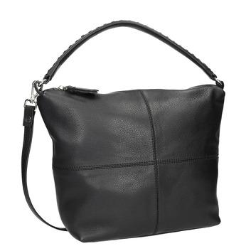 Hobo-Handtasche aus Leder mit Steppung bata, Schwarz, 964-6290 - 13