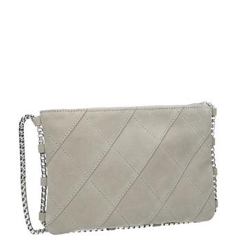 Crossbody-Damenhandtasche aus Leder bata, Grau, 963-1193 - 13
