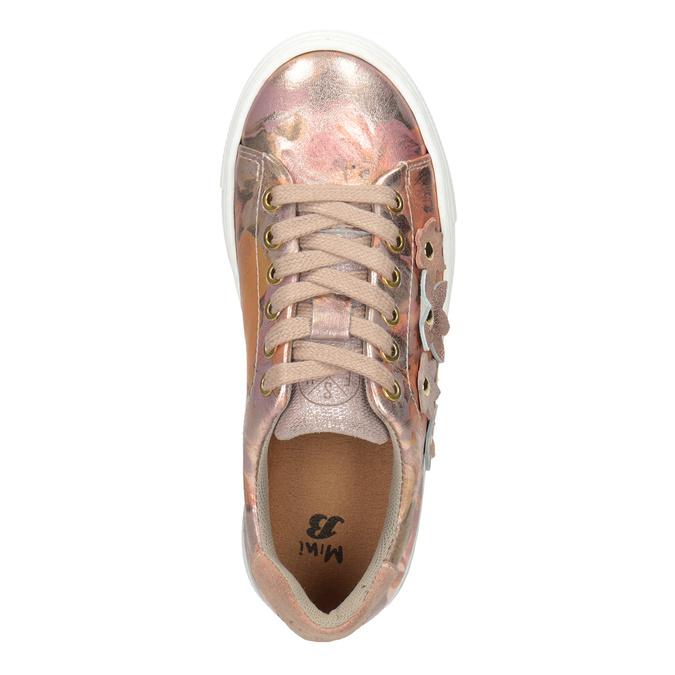 Mädchen-Sneakers aus Leder mit Blümchen mini-b, 326-5606 - 17