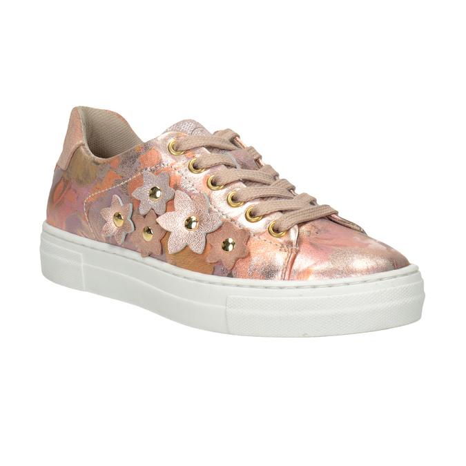 Mädchen-Sneakers aus Leder mit Blümchen mini-b, 326-5606 - 13