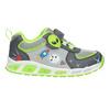 Grüne Kinder-Sneakers mit blinkender Sohle mini-b, Grau, 211-2102 - 26