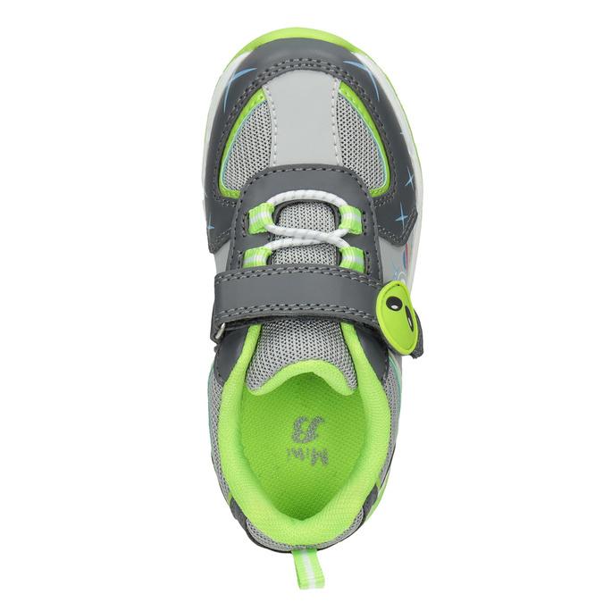 Grüne Kinder-Sneakers mit blinkender Sohle mini-b, Grau, 211-2102 - 15