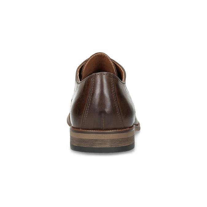 Herrenhalbschuhe aus Leder mit Verzierung bata, Braun, 826-4927 - 15