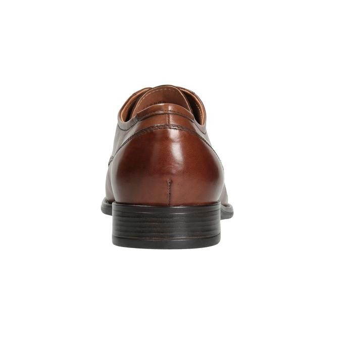 Herren-Lederhalbschuhe mit Steppung bata, Braun, 826-4995 - 16