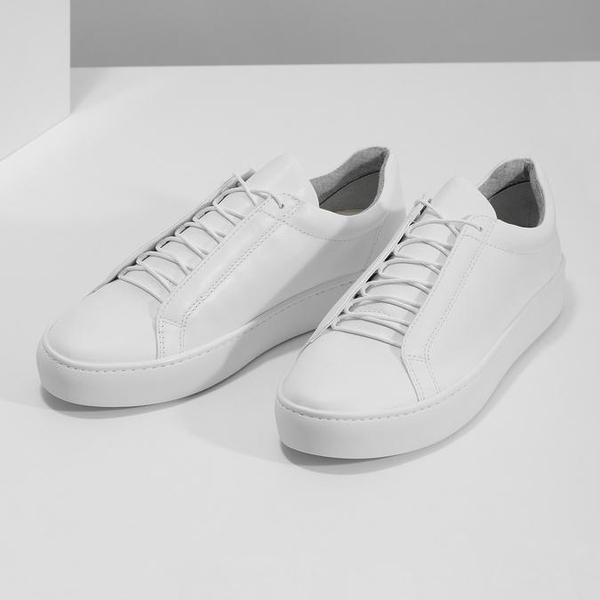 Weisse Sneakers aus Leder vagabond, Weiss, 624-1019 - 16