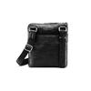 Schwarze Crossbody-Tasche aus Leder bata, Schwarz, 964-6288 - 26
