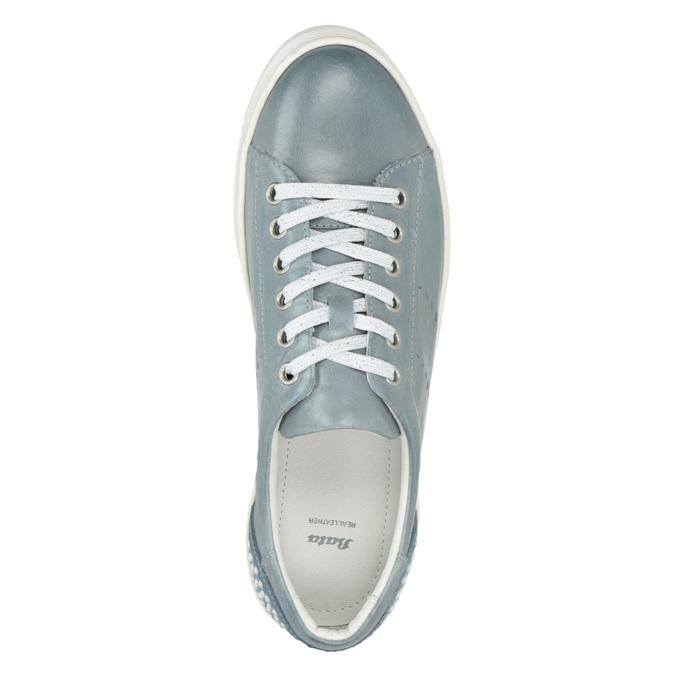 Damen-Sneakers aus Leder mit Perlen bata, Blau, 546-9606 - 15