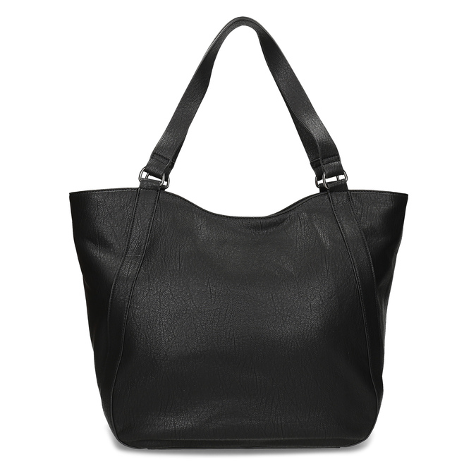 Schwarze Handtasche mit Zwecken, Schwarz, 961-6787 - 16