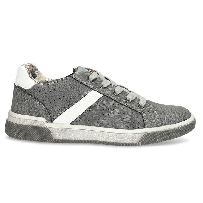 Kinder-Sneakers mit Perforation mini-b, Grau, 411-2102 - 19