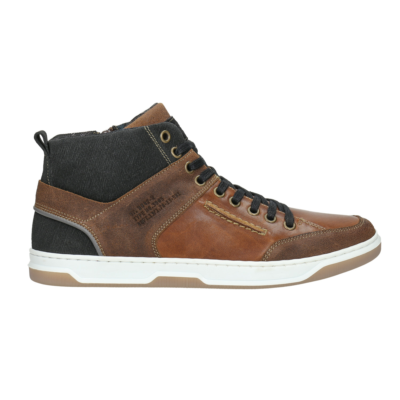 6a7993f53249d5 Bata Knöchelhohe Sneakers aus Leder - Sneakers